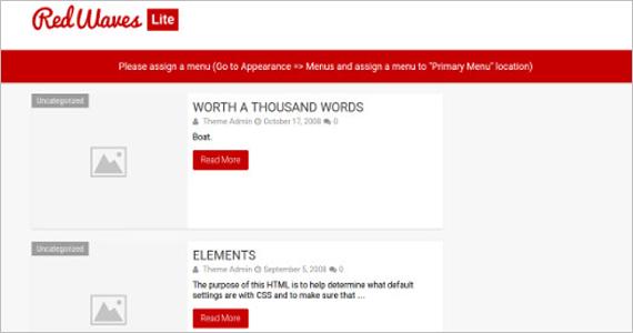 Minimalist Free WordPress Template