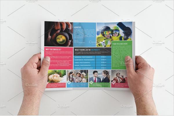 Minimalistic Photography Design Brochure