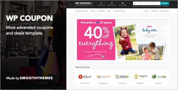 Coupons website template