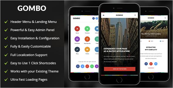 Mobile App wordPress Template
