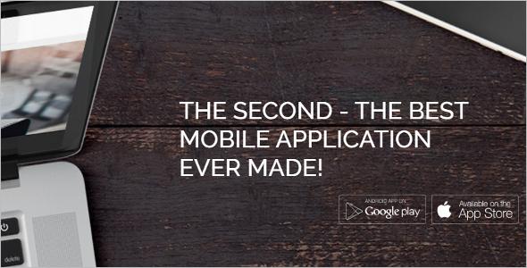 Mobile Applications WordPress Template