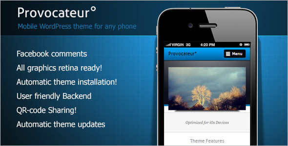 Mobile Installiation WordPress template