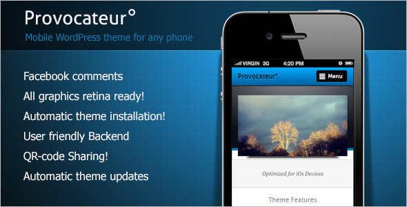 Mobile Installiation WordPress template