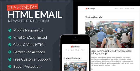 Mobile Newsletter Blog Template