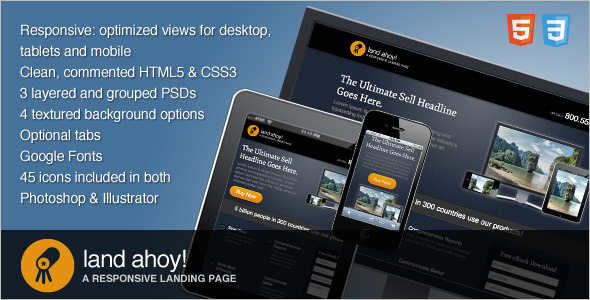 Mobile Optimized Landing Page Template
