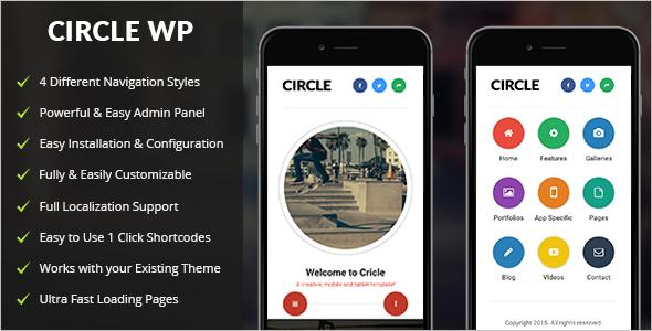 Mobile Sidebar WordPress Template