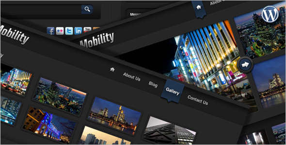 Mobile Web wordPress Template