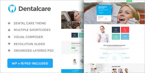 Modern Dental care WordPress Theme