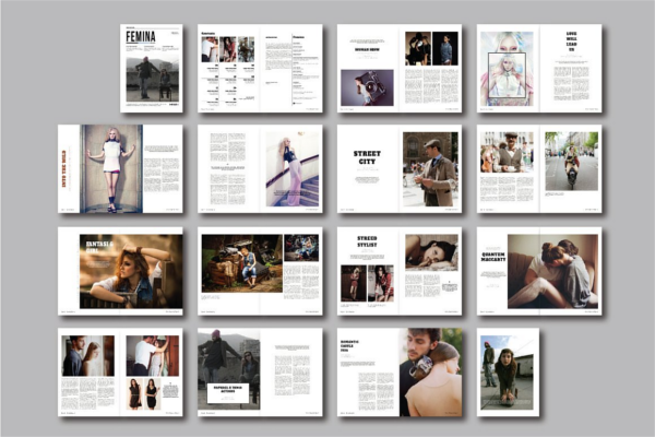 3 best femina magazine templates free download Modern design magazine