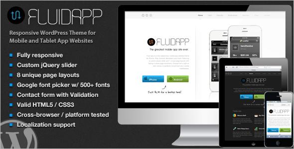 Modern Mobile WordPress Template
