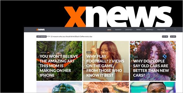 Modern News WordPress Theme