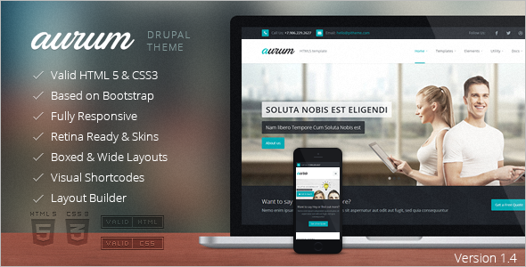 Modern Software Drupal Template