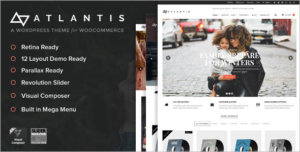 Multi Layout E-Commerce WordPress Theme