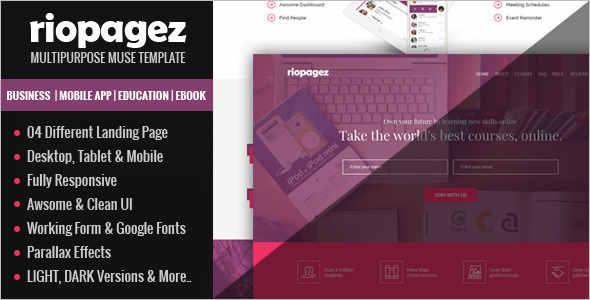 Multi Muse Ebook Landing Page Template