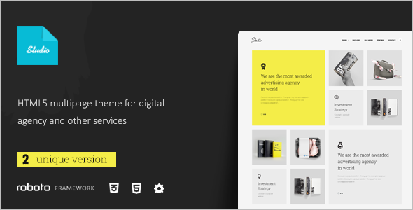 Multi-Page Studio Website Template