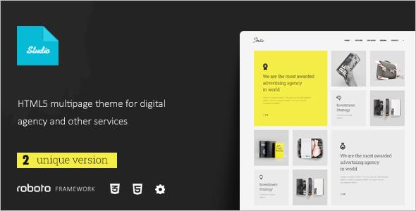 Multi-Page Studio Website Template