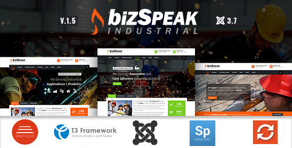 News Industrial Joomla Business Template