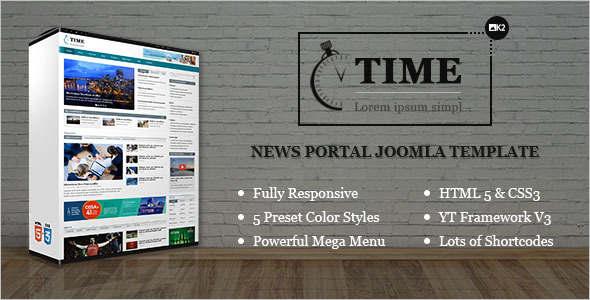 News Portal Joomla Template