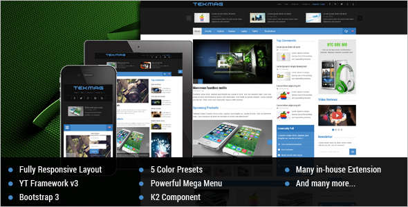 News Technology Joomla Template