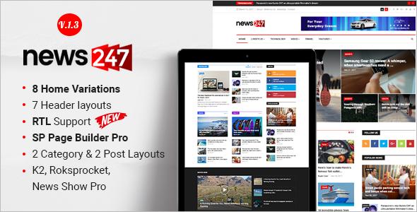 NewsPaper Magazine Joomla Template