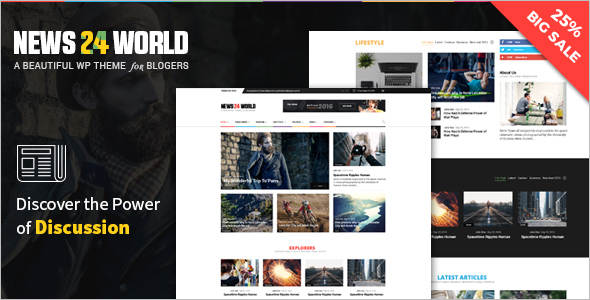 Newspaper Blog WordPress Template