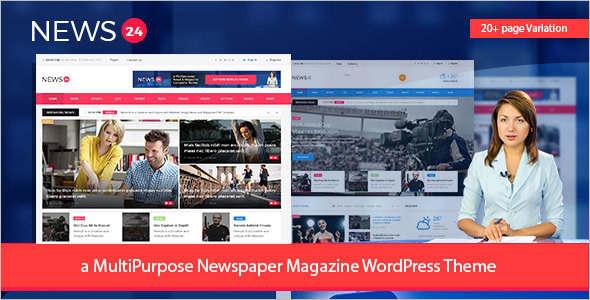 Newspaper WordPress Theme Design