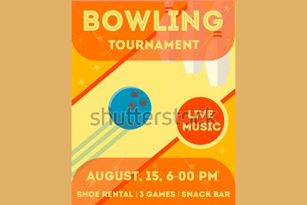 Night Bowling Invitation Flyer