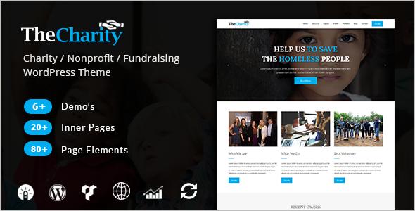 Nonprofit Fundraising WordPress Theme
