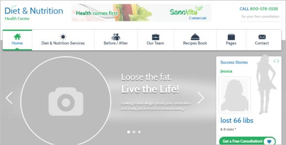 Nutrition Health WordPress Template