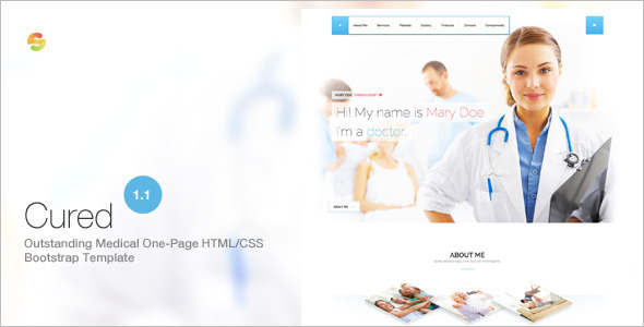 One Page Medical Bootstrap template