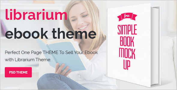 One Page eBook Landing Theme