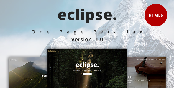 One Page eclipse Cover Magazine Template
