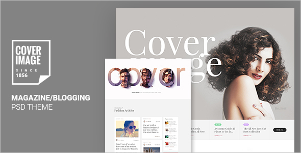 Online Cover Magazine Template