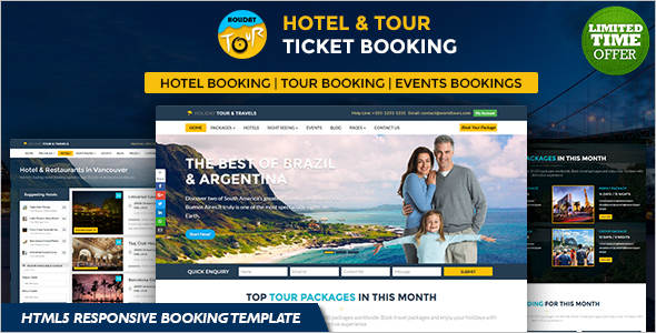 Online Ticket Deals Website Template