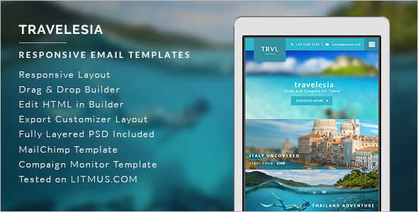 Online Travel Email Template