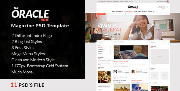 Oracle Magazine Cover Theme