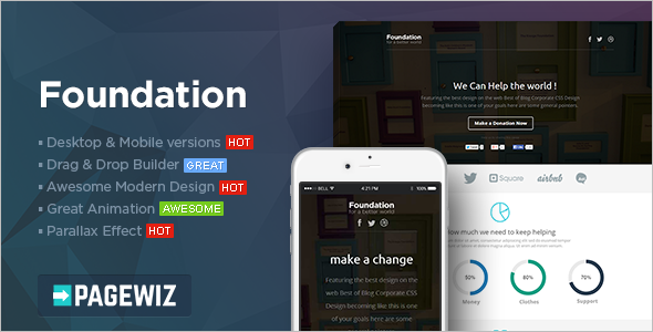 Pagewiz Foundation LandingPage Template