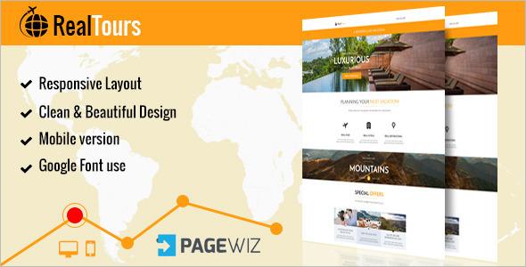 Pagewiz Travel Landing Page Template