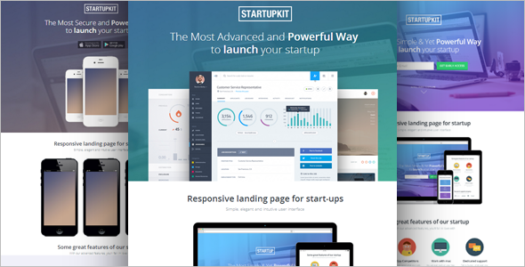 Parallax Landing page Signup template