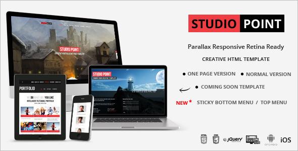 Parallax Studio Website Template