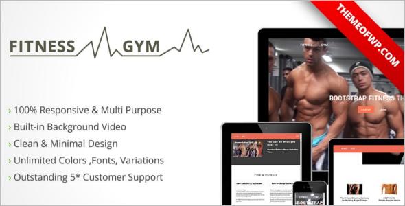 Parallex Fitness Website Template