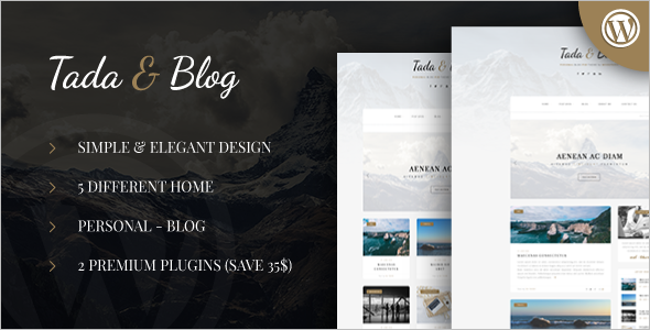 Personal WordPress Template