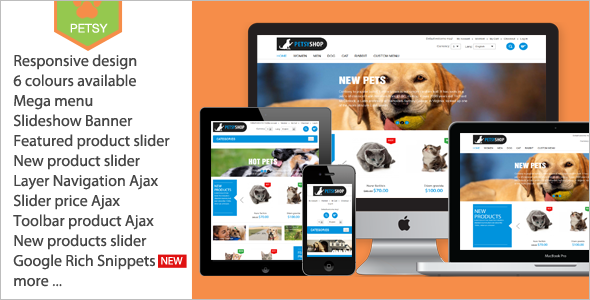 Petsy Shopping Magento Template