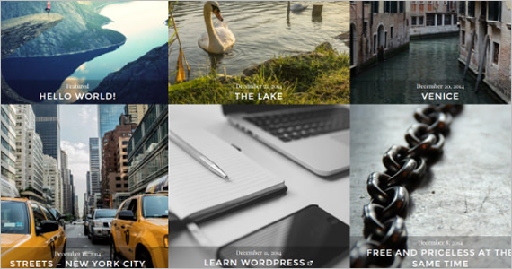 Photo Blogging Free WordPress Template