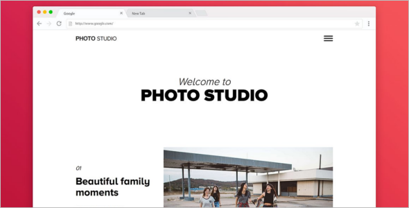 Photo Studio Bootstrap Portfilio Template