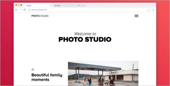 Photo Studio Bootstrap Portfilio Template