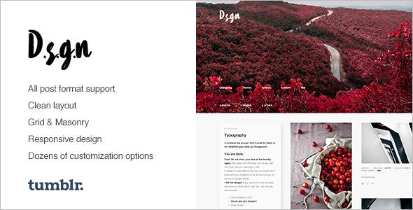 Photography Tumblr Theme Model