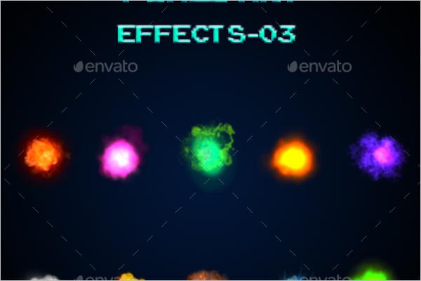 Pixel Art Effect Design Template