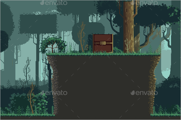 Pixel Art Forest Design