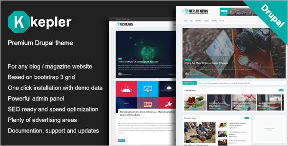 Premium Blog Drupal Template
